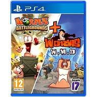 Worms Battlegrounds + Worms WMD Double-Pack - PS4 - Konzol játék