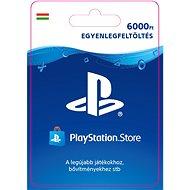 PlayStation Store - 6000 forintos feltöltőkártya - HU digitális - Feltöltőkártya