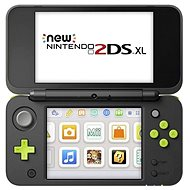 Nintendo NEW 2DS XL Black & Lime Green + Mario Kart 7 - Játékkonzol