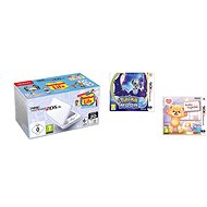 Nintendo NEW 2DS XL White & Levander Green + Tomodachi Life + Pokémon Moon + Teddy Together - Játékkonzol