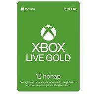 Xbox Live Gold - 12 hónapos tagság - Feltöltőkártya
