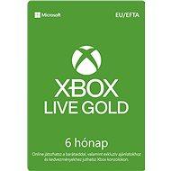 Xbox Live Gold - 6 hónapos tagság - Feltöltőkártya