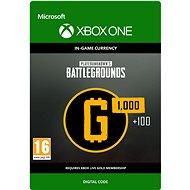 PLAYERUNKNOWN'S BATTLEGROUNDS 1,100 G-Coin  - Xbox Digital - Játék kiegészítő