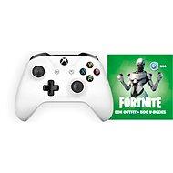 Xbox One vezeték nélküli kontroller White + Fortnite Eon Bundle - Játékvezérlő