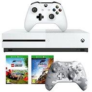 Xbox One S 1TB + Lego Forza Horizon 4 + 2x Játekvezérlő - Konzol