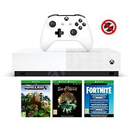 Xbox One S 1TB All-Digital + 3 játék (Fortnite, Minecraft, Sea of Thieves) - Játékkonzol
