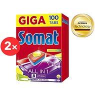 SOMAT All in 1 Lemon & Lime 2× 100 db - Mosogatógép tabletta