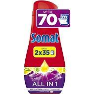 SOMAT All in One Lemon 2 × 630 ml (70 adag) - Mosogatógép gél
