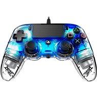 Nacon Wired Compact Controller PS4 - átlátszó kék - Kontroller