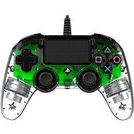 Nacon Wired Compact Controller PS4 - áttetsző zöld - Kontroller