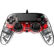 Nacon Wired Compact Controller PS4 - áttetsző piros - Kontroller