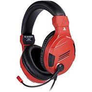 BigBen PS4 sztereó fülhallgató v3 - piros - Gamer fejhallgató