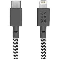 Native Union Belt Cable C-L Lightning 1.2m, zebra - Adatkábel