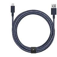 Native Union Belt Cable XL Lightning 3m, indigó - Adatkábel