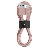 Native Union Belt Cable Lightning 1.2m, rózsaszínű - Adatkábel