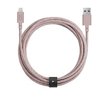 Native Union Belt Cable XL Lightning 3m, rózsaszínű - Adatkábel