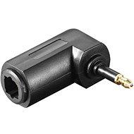 PremiumCord TOS Optikai adapter 90°-ban hajlított TOS3,5 M - TOS(F) - Átalakító