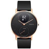 Okosóra Nokia Steel HR (36mm) rozéarany/ fekete, szilikon pánt - Okosóra