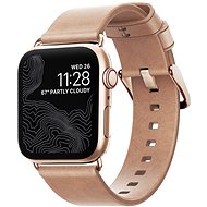 Nomad Leather Strap Modern Natural Gold Apple Watch 40/38mm - Tartozék