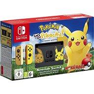 Nintendo Switch + Pokémon: Lets Go Pikachu + Poké Ball - Játékkonzol