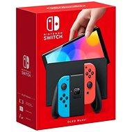Nintendo Switch (OLED modell) Neon blue/Neon red - Konzol