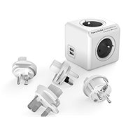 PowerCube Rewirable USB + Travel Plugs szürke - Hálózati adapter