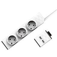 Allocacoc Set PowerStrip moduláris kapcsoló, 1,5m + USB modul - Aljzat