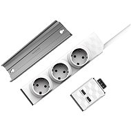 Allocacoc PowerStrip Modular Switch 1,5m + USB Modul + PowerStrip Rail - Aljzat