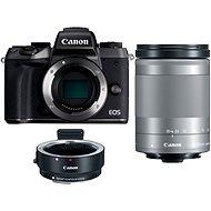 Canon EOS M5 + 18-150mm IS STM ezüst + EF-EOS M adapter - Digitális fényképezőgép