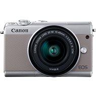 Canon EOS M100 szürke + M15-45mm ezüst - Digitális fényképezőgép