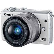 Canon EOS M100 fehér + ezüst M15-45mm - Digitális fényképezőgép