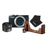 Canon EOS M100 fekete + EF-M 15-45 mm IS STM ezüst Value Up Kit - Digitális fényképezőgép