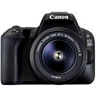 Canon EOS 200D fekete + 18-55 mm III DC - Digitális tükörreflexes fényképezőgép