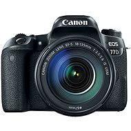 Canon EOS 77D fekete + 18-135mm IS USM - Digitális fényképezőgép