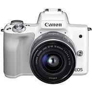 Canon EOS M50 fehér + EF-M 15-45 mm IS STM - Digitális fényképezőgép