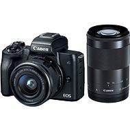 Canon EOS M50 fekete + EF-M 15-45 mm IS STM + EF-M 55-200 mm - Digitális fényképezőgép