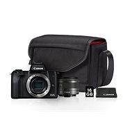 Canon EOS M50 fekete + EF-M 15-45 mm IS STM Value Up Kit - Digitális fényképezőgép