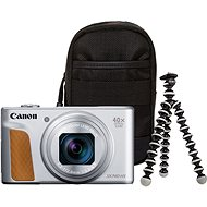 Canon PowerShot SX740 HS ezüst Travel Kit - Digitális fényképezőgép