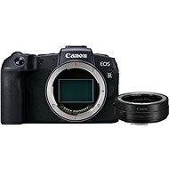 Canon EOS RP fekete színű + EF-EOS R adapter - Digitális fényképezőgép