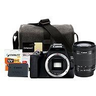 Canon EOS 250D, fekete + EF-S 18-55mm IS STM + LP-E17 + Canon Starter Kit 58mm - 32GB - Digitális fényképezőgép