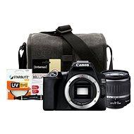 Canon EOS 250D, fekete + 18-55mm DC III + Canon Starter Kit 58mm - 32GB - Digitális fényképezőgép