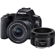 Canon EOS 250D, fekete + 18-55mm IS STM + 50 mm IS - Digitális fényképezőgép