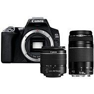 Canon EOS 250D, fekete + 18-55mm DC III + 75-300mm DC III - Digitális fényképezőgép