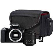 Canon EOS 250D, fekete + 18-55mm EF-S + SB130 fotós táska + 16GB memóriakártya - Digitális fényképezőgép