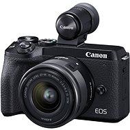Canon EOS M6 Mark II + 15-45 mm + EVF kereső - Digitális fényképezőgép