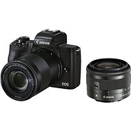 Canon EOS M50 Mark II fekete + EF-M 15-45 mm IS STM + EF-M 55-200 mm - Digitális fényképezőgép