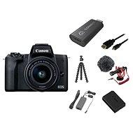 Canon EOS M50 Mark II fekete - Premium Live Stream Kit - Digitális fényképezőgép