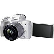 Canon EOS M50 Mark II fehér + EF-M 15-45 mm IS STM - Digitális fényképezőgép