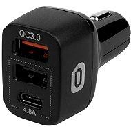 Odzu Car Charger With Quick Charge 3.0 Black - Autós töltő