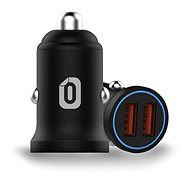 Odzu Car Charger Mini 2x Quick Charge 3.0 Black - Autós töltő